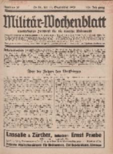 Militär-Wochenblatt : unabhängige Zeitschrift für die deutsche Wehrmacht, 113. Jahrgang, 11. September 1928, Nr 10.