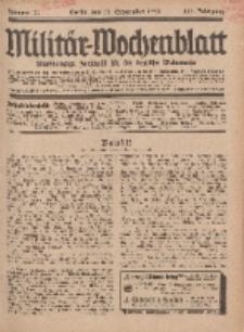 Militär-Wochenblatt : unabhängige Zeitschrift für die deutsche Wehrmacht, 113. Jahrgang, 18. September 1928, Nr 11.