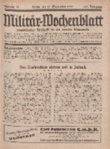 Militär-Wochenblatt : unabhängige Zeitschrift für die deutsche Wehrmacht, 113. Jahrgang, 25. September 1928, Nr 12.