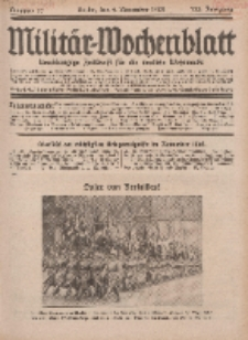Militär-Wochenblatt : unabhängige Zeitschrift für die deutsche Wehrmacht, 113. Jahrgang, 4. November 1928, Nr 17.