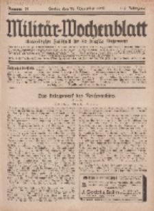 Militär-Wochenblatt : unabhängige Zeitschrift für die deutsche Wehrmacht, 113. Jahrgang, 18. November 1928, Nr 19.