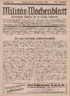 Militär-Wochenblatt : unabhängige Zeitschrift für die deutsche Wehrmacht, 113. Jahrgang, 25. November 1928, Nr 20.