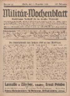 Militär-Wochenblatt : unabhängige Zeitschrift für die deutsche Wehrmacht, 113. Jahrgang, 11. Dezember 1928, Nr 22.