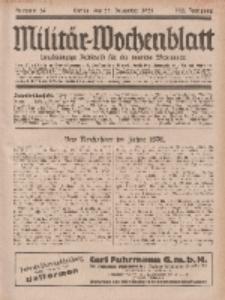 Militär-Wochenblatt : unabhängige Zeitschrift für die deutsche Wehrmacht, 113. Jahrgang, 25. Dezember 1928, Nr 24.