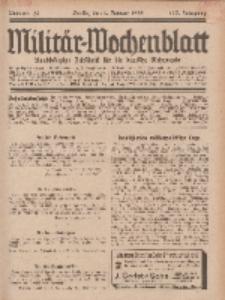 Militär-Wochenblatt : unabhängige Zeitschrift für die deutsche Wehrmacht, 113. Jahrgang, 4. Januar 1929, Nr 25.