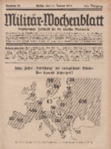 Militär-Wochenblatt : unabhängige Zeitschrift für die deutsche Wehrmacht, 113. Jahrgang, 11. Januar 1929, Nr 26.