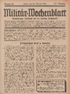 Militär-Wochenblatt : unabhängige Zeitschrift für die deutsche Wehrmacht, 113. Jahrgang, 18. Januar 1929, Nr 27.
