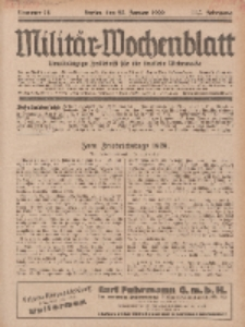 Militär-Wochenblatt : unabhängige Zeitschrift für die deutsche Wehrmacht, 113. Jahrgang, 25. Januar 1929, Nr 28.