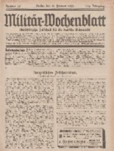 Militär-Wochenblatt : unabhängige Zeitschrift für die deutsche Wehrmacht, 113. Jahrgang, 18. Februar 1929, Nr 31.