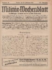 Militär-Wochenblatt : unabhängige Zeitschrift für die deutsche Wehrmacht, 113. Jahrgang, 25. Februar 1929, Nr 32.