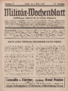 Militär-Wochenblatt : unabhängige Zeitschrift für die deutsche Wehrmacht, 113. Jahrgang, 4. März 1929, Nr 33.