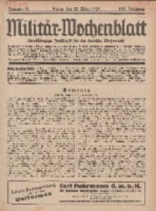 Militär-Wochenblatt : unabhängige Zeitschrift für die deutsche Wehrmacht, 113. Jahrgang, 25. März 1929, Nr 36.