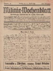Militär-Wochenblatt : unabhängige Zeitschrift für die deutsche Wehrmacht, 113. Jahrgang, 11. April 1929, Nr 38.