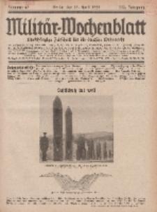 Militär-Wochenblatt : unabhängige Zeitschrift für die deutsche Wehrmacht, 113. Jahrgang, 25. April 1929, Nr 40.