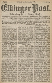 Elbinger Post, Nr.299 Mittwoch 22 Dezember 1875, 2 Jh