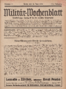 Militär-Wochenblatt : unabhängige Zeitschrift für die deutsche Wehrmacht, 113. Jahrgang, 18. Juni 1929, Nr 47.