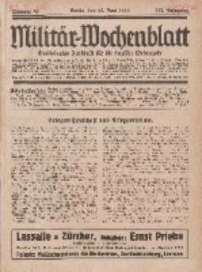 Militär-Wochenblatt : unabhängige Zeitschrift für die deutsche Wehrmacht, 113. Jahrgang, 25. Juni 1929, Nr 48.
