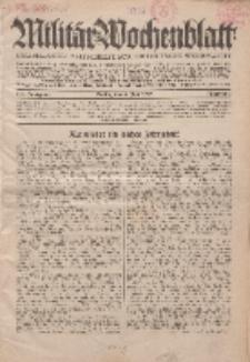 Militär-Wochenblatt : unabhängige Zeitschrift für die deutsche Wehrmacht, 114. Jahrgang, 4. Juli 1929, Nr 1.