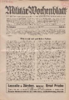 Militär-Wochenblatt : unabhängige Zeitschrift für die deutsche Wehrmacht, 114. Jahrgang, 11. Juli 1929, Nr 2.