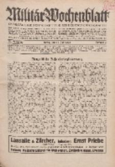 Militär-Wochenblatt : unabhängige Zeitschrift für die deutsche Wehrmacht, 114. Jahrgang, 25. Juli 1929, Nr 4.