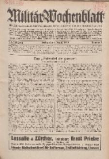 Militär-Wochenblatt : unabhängige Zeitschrift für die deutsche Wehrmacht, 114. Jahrgang, 4. August 1929, Nr 5.