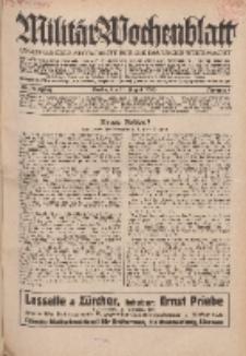 Militär-Wochenblatt : unabhängige Zeitschrift für die deutsche Wehrmacht, 114. Jahrgang, 11. August 1929, Nr 6.