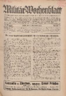 Militär-Wochenblatt : unabhängige Zeitschrift für die deutsche Wehrmacht, 114. Jahrgang, 11. September 1929, Nr 10.
