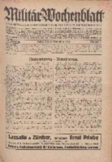 Militär-Wochenblatt : unabhängige Zeitschrift für die deutsche Wehrmacht, 114. Jahrgang, 18. September 1929, Nr 11.