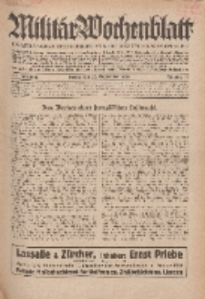 Militär-Wochenblatt : unabhängige Zeitschrift für die deutsche Wehrmacht, 114. Jahrgang, 25. September 1929, Nr 12.