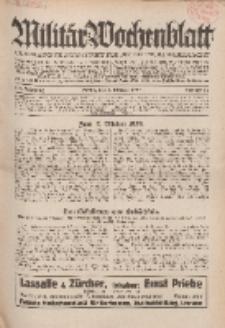 Militär-Wochenblatt : unabhängige Zeitschrift für die deutsche Wehrmacht, 114. Jahrgang, 4. Oktober 1929, Nr 13.