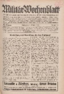 Militär-Wochenblatt : unabhängige Zeitschrift für die deutsche Wehrmacht, 114. Jahrgang, 11. Oktober 1929, Nr 14.