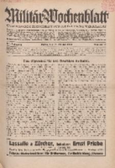 Militär-Wochenblatt : unabhängige Zeitschrift für die deutsche Wehrmacht, 114. Jahrgang, 18. Oktober 1929, Nr 15.