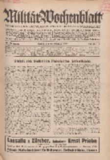 Militär-Wochenblatt : unabhängige Zeitschrift für die deutsche Wehrmacht, 114. Jahrgang, 25. Oktober 1929, Nr 16.