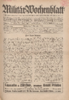 Militär-Wochenblatt : unabhängige Zeitschrift für die deutsche Wehrmacht, 114. Jahrgang, 11. November 1929, Nr 18.