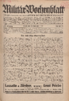 Militär-Wochenblatt : unabhängige Zeitschrift für die deutsche Wehrmacht, 114. Jahrgang, 18. November 1929, Nr 19.
