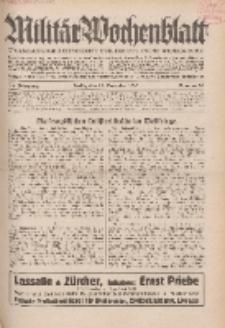 Militär-Wochenblatt : unabhängige Zeitschrift für die deutsche Wehrmacht, 114. Jahrgang, 25. November 1929, Nr 20.