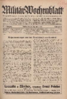 Militär-Wochenblatt : unabhängige Zeitschrift für die deutsche Wehrmacht, 114. Jahrgang, 18. Dezember 1929, Nr 23.