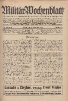 Militär-Wochenblatt : unabhängige Zeitschrift für die deutsche Wehrmacht, 114. Jahrgang, 25. Dezember 1929, Nr 24.