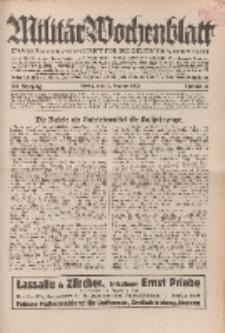 Militär-Wochenblatt : unabhängige Zeitschrift für die deutsche Wehrmacht, 114. Jahrgang, 11. Januar 1930, Nr 26.