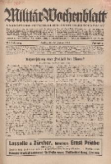 Militär-Wochenblatt : unabhängige Zeitschrift für die deutsche Wehrmacht, 114. Jahrgang, 18. Januar 1930, Nr 27.