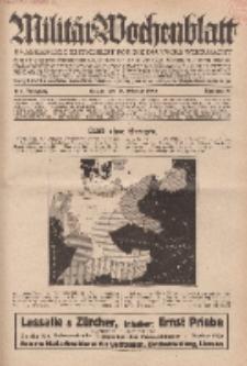 Militär-Wochenblatt : unabhängige Zeitschrift für die deutsche Wehrmacht, 114. Jahrgang, 18. Februar 1930, Nr 31.