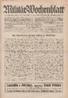 Militär-Wochenblatt : unabhängige Zeitschrift für die deutsche Wehrmacht, 114. Jahrgang, 4. März 1930, Nr 33.