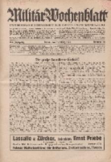 Militär-Wochenblatt : unabhängige Zeitschrift für die deutsche Wehrmacht, 114. Jahrgang, 11. März 1930, Nr 34.