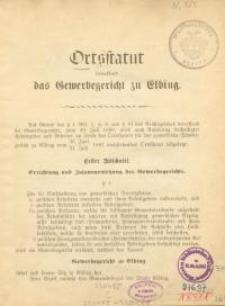 Ortstatut betreffend das Gewerbegericht zu Elbing
