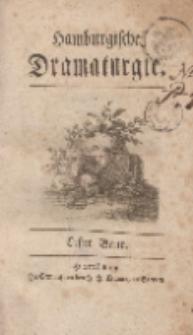 Hamburgische Dramaturgie, Erster Band, Erstes Stück, den 1ten May, 1767