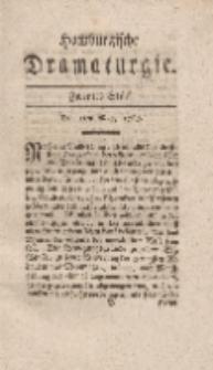 Hamburgische Dramaturgie, Erster Band, Zweytes Stück, den 5ten May, 1767