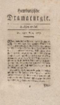 Hamburgische Dramaturgie, Erster Band, Sechstes Stück, den 19ten May, 1767