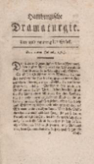 Hamburgische Dramaturgie, Erster Band, Ein und zwanzigstes Stück, den 10ten Julius, 1767
