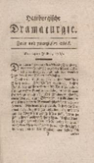 Hamburgische Dramaturgie, Erster Band, Zwey und zwanzigstes Stück, den 14ten Julius, 1767