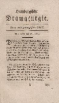 Hamburgische Dramaturgie, Erster Band, Drey und zwanzigstes Stück, den 17ten Julius,1767